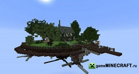 ������� ����� - Steampunk Inspired Flying TownWIP ��� ���������