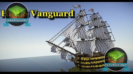 [1.7.4]  1st Rate Ship Of The Line: H.M.S Vanguard для Minecraft